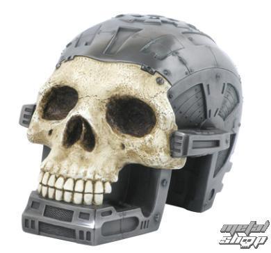 lebka Cyborg skull metall - 708-3618