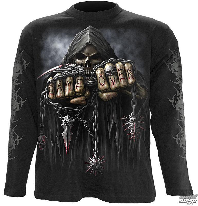 tričko pánske s dlhým rukávom SPIRAL - Game Over - TR 260700