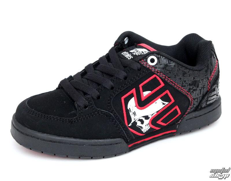 topánky detské ETNIES - Kids Metal Mulisha Charter - BLACK-BLACK-RED
