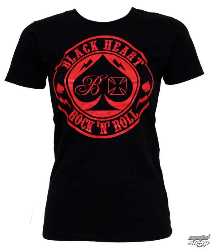 tričko dámske BLACK HEART - Ace Of Spades - Black