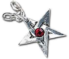 obojok Crystal Pentagram - ALCHEMY GOTHIC - P365