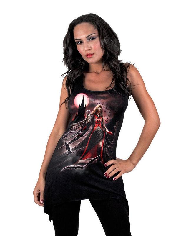 šaty dámske SPIRAL - Blood Moon - Gothbotm Viscose - AS135234
