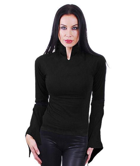 tričko dámske s dlhým rukávom SPIRAL - Highneck - PL222