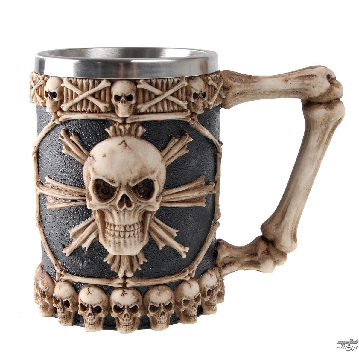 polliter Large Tankard Of Skulls - NEM3722