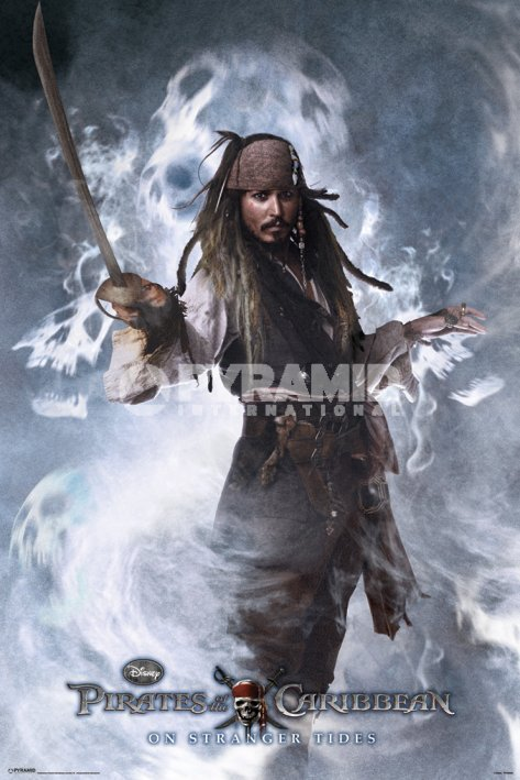 plagát Pirates Of The Caribbean 4 - Jack Sparrow - PYRAMID POSTERS - FPP32548