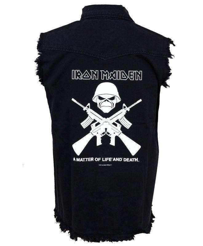 vesta pánska Iron Maiden - Crossed Guns - RAZAMATAZ
