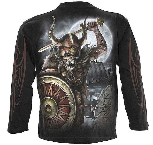 tričko pánske s dlhý rukávom SPIRAL - Viking Undead - LG174700