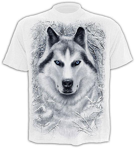 tričko pánske SPIRAL - White Wolf - TR324619