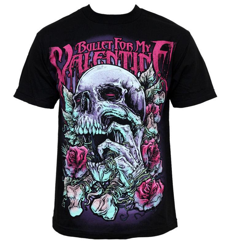 tričko pánske Bullet For My Valentine - Skull RD - BRAVADO - BFMVTS02