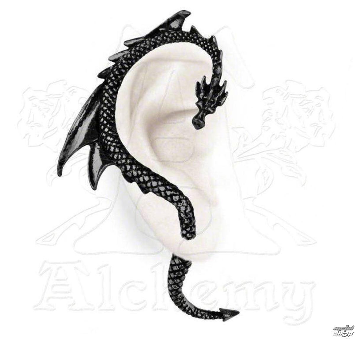 náušnice The Dragon's Lure - Black - ALCHEMY GOTHIC - E274B