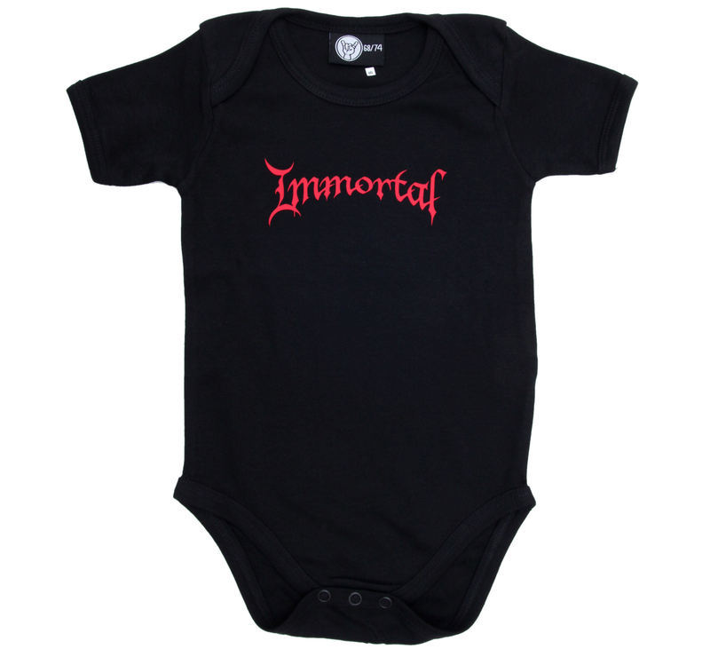 body detské Immortal - Logo Red - Black - Metal-Kids