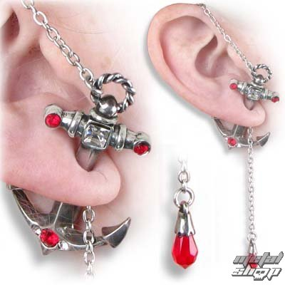 náušnice Anchors Away Stud - ALCHEMY GOTHIC - ULFE16