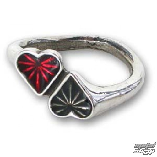 prsteň Heart - ALCHEMY GOTHIC - ULFR3N
