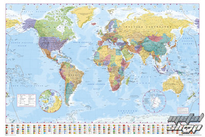 plagát World Map 2012 - GB Posters - GN0214