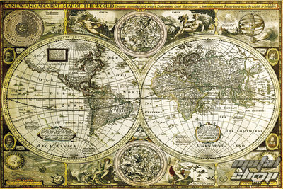 plagát World Map Historical - GB Posters - GN0685