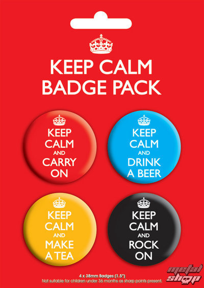 odznaky Keep Calm Badge - GB Posters - BP00199