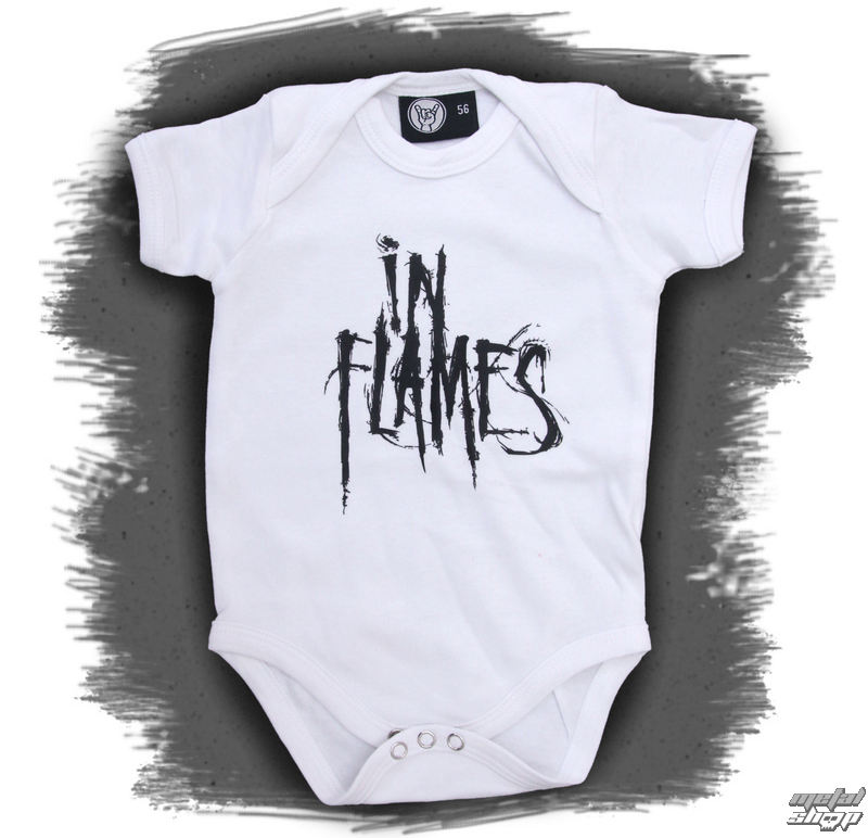 body detské In Flames - Logo - White - Metal-Kids