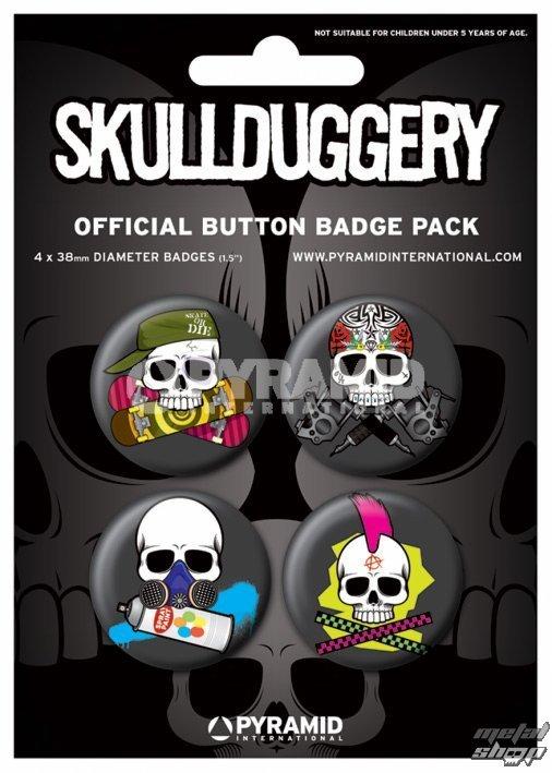 odznaky Skull Duggery - BP80389 - Pyramid Posters