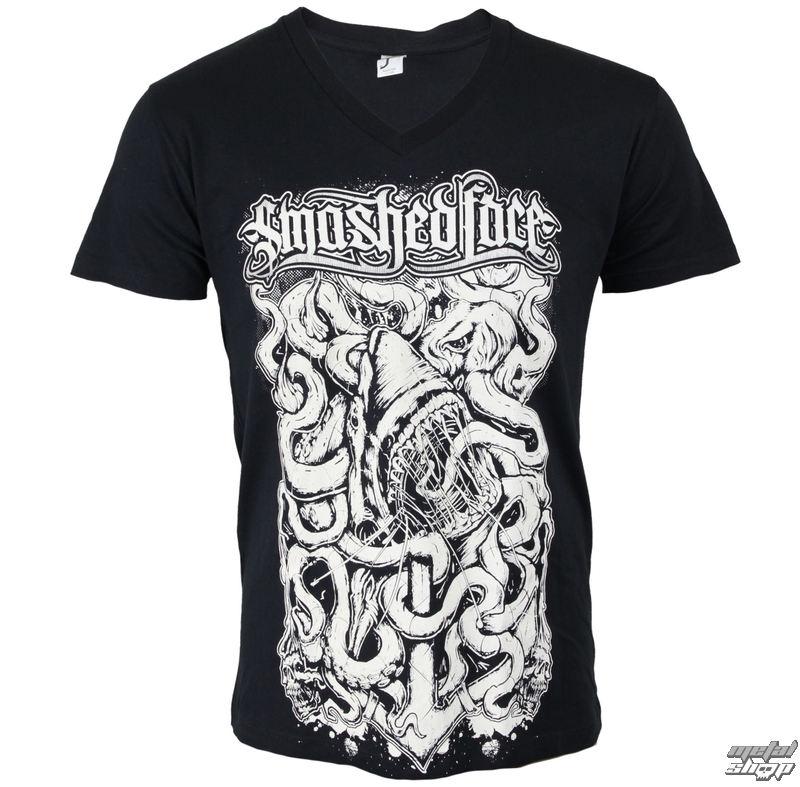 tričko pánske SMASHED FACE - Shark - Black - 11