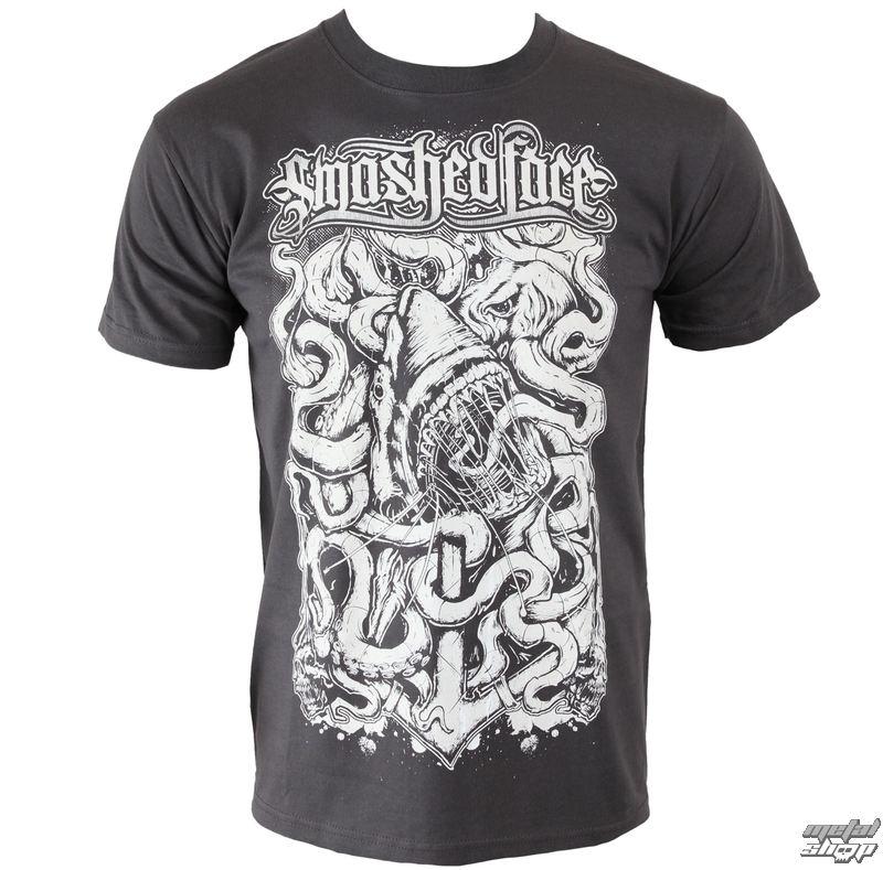 tričko pánske SMASHED FACE - Shark - Graphite - 13