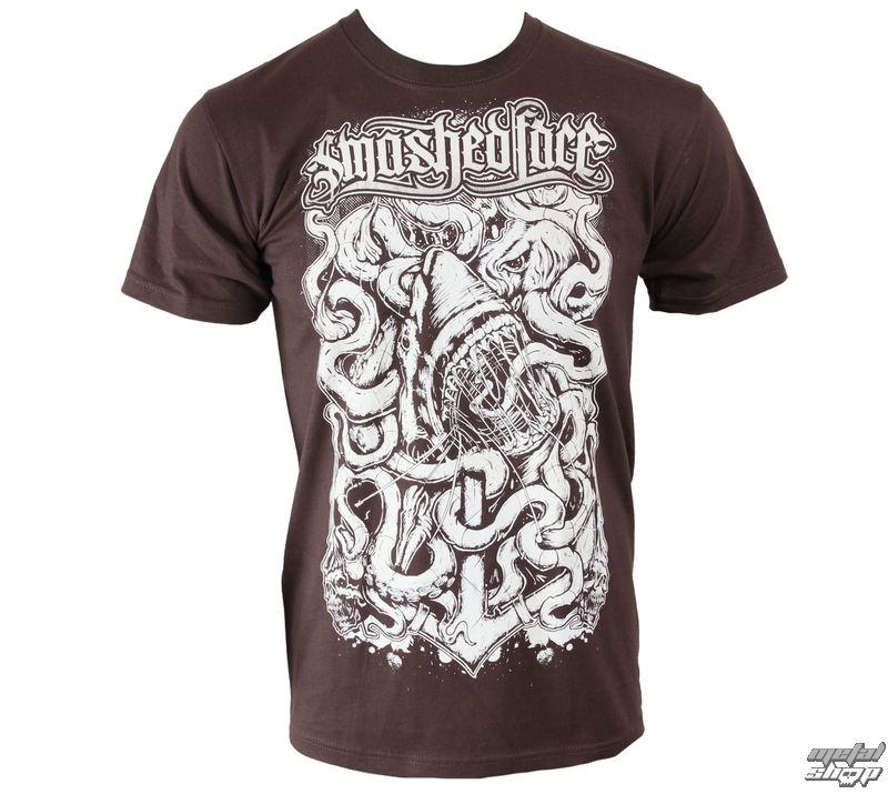 tričko pánske SMASHED FACE - Shark - Chocolate - 14