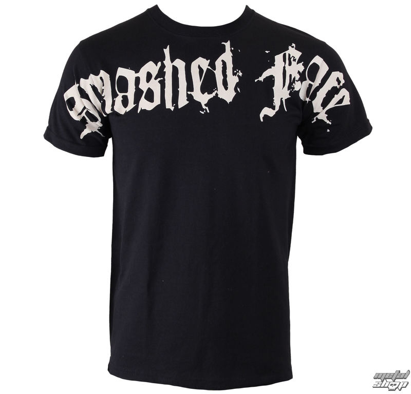 tričko pánske SMASHED FACE - Oversleeve - Black - 24