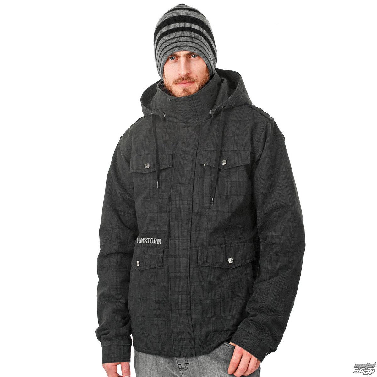 bunda pánska zimný -látková- FUNSTORM - Manir - 21 BLACK