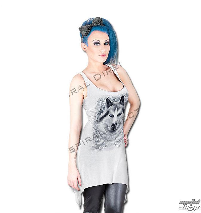 šaty dámske SPIRAL - Wolf - White - TR324290