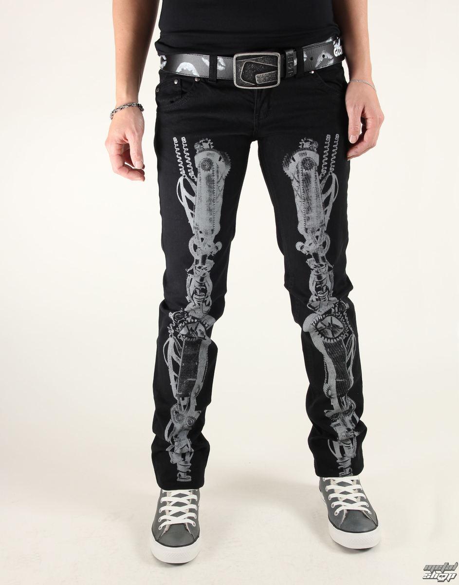 a4a3a2aaf9b3 nohavice dámske 3RDAND56th - Steam Punk Skinny Jeans - JM1025