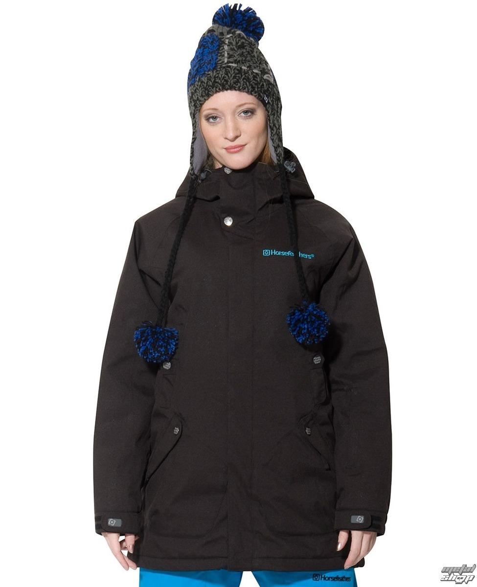 bunda dámska zimný (kabátik) HORSEFEATHERS - Nair - Black