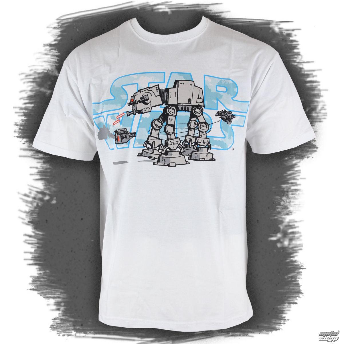 tričko pánske STAR WARS - Logo&Robot - White - LIVE NATION - 10944