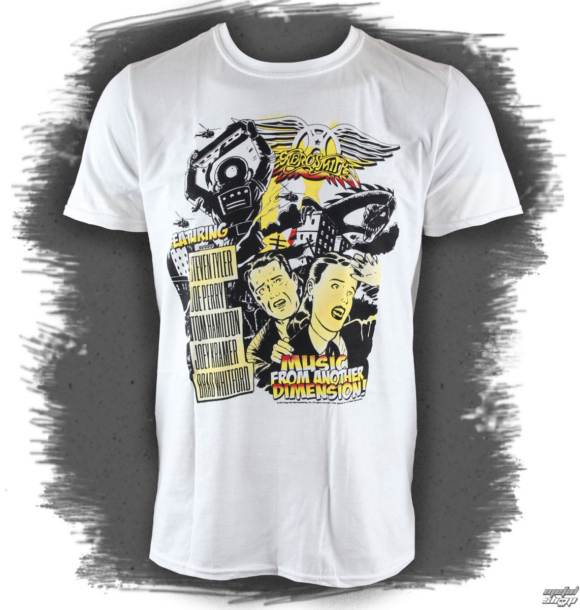tričko pánske Aerosmith - Dimensions - White - LIVE NATION - RTAERO7060