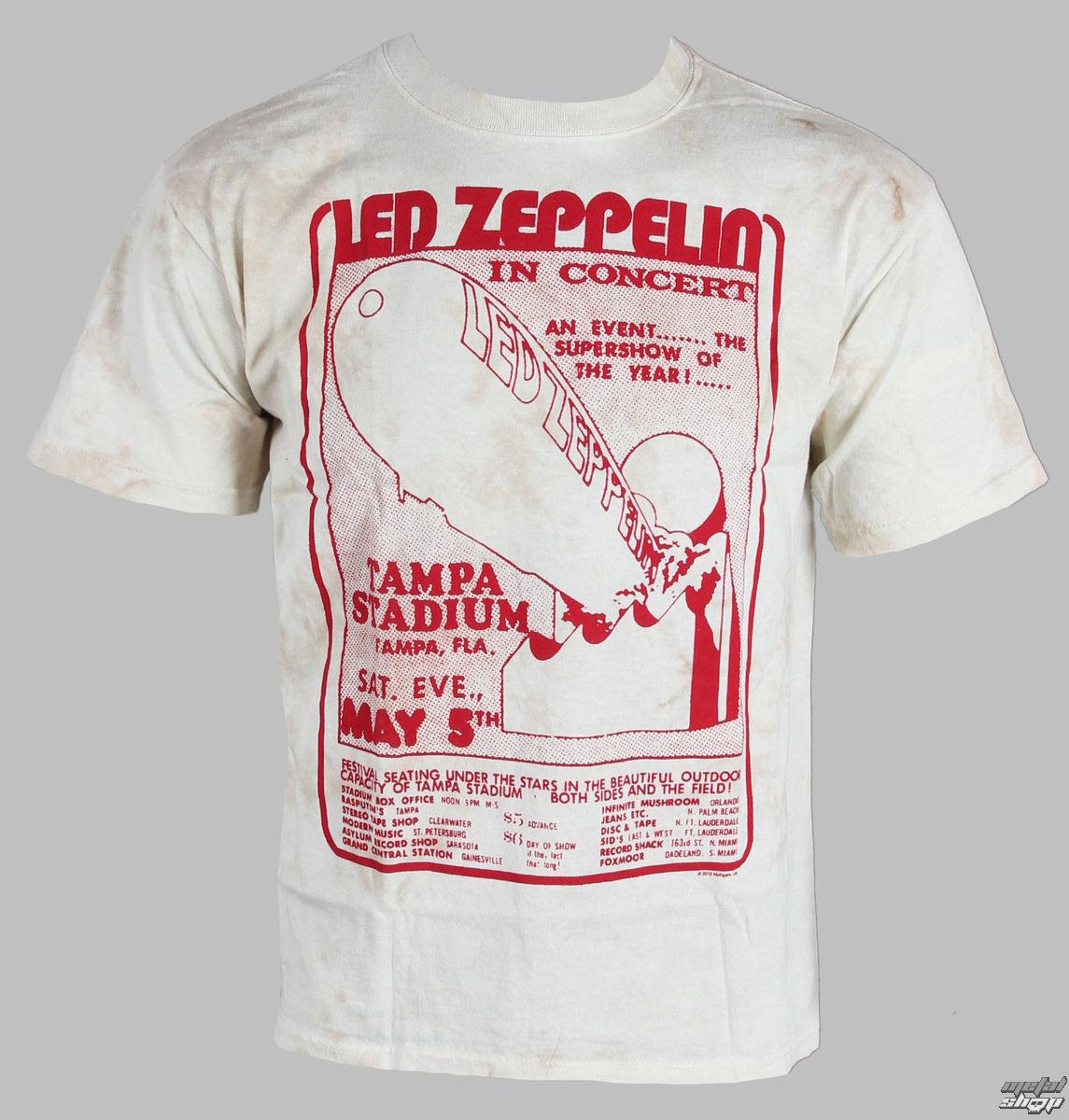 tričko pánské Led Zeppelin - In Concert - LIQUID BLUE - 11815