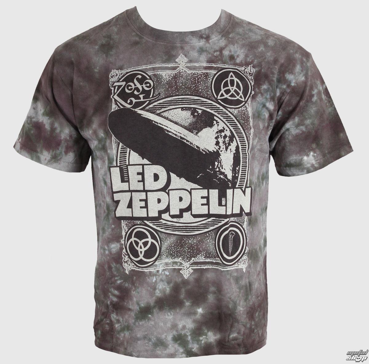 tričko pánské Led Zeppelin - Zeppelin Poster - LIQUID BLUE - 11816