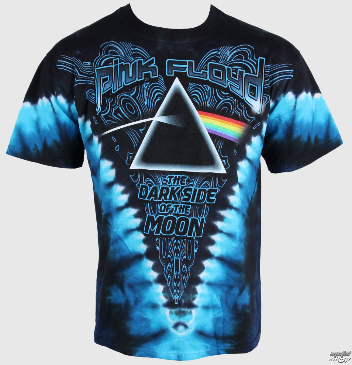 tričko pánske Pink Floyd - Dark Side of the Moon - LIQUID BLUE - 11824