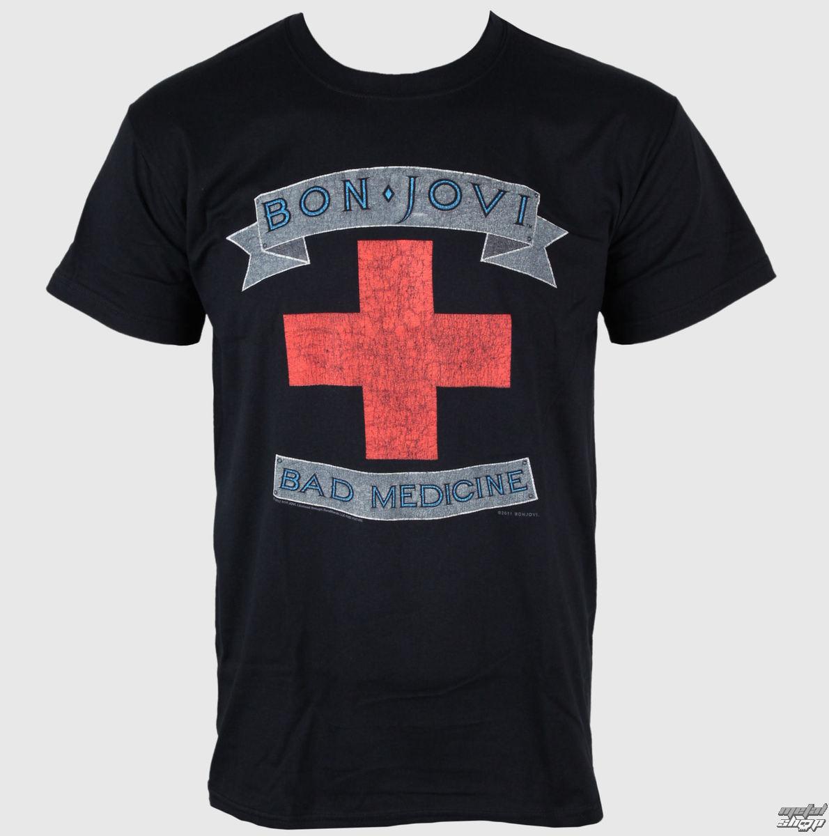 tričko pánske Bon Jovi - Bad Medicine - PLASTIC HEAD - PH7466