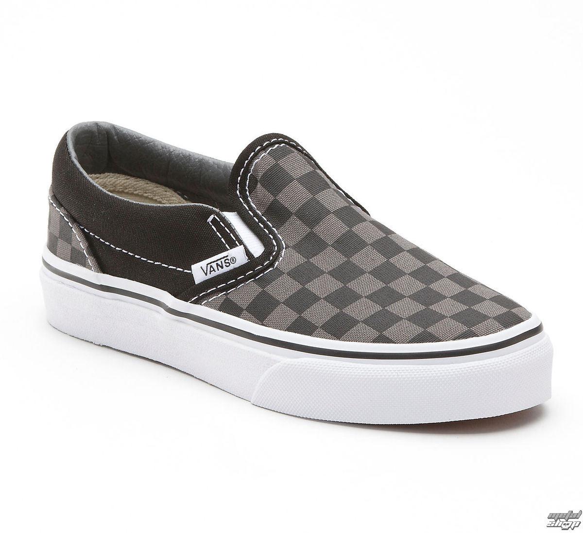 topánky VANS - Classic Slip-on - Black/Pewter Checkerboard - VEYEBPJ