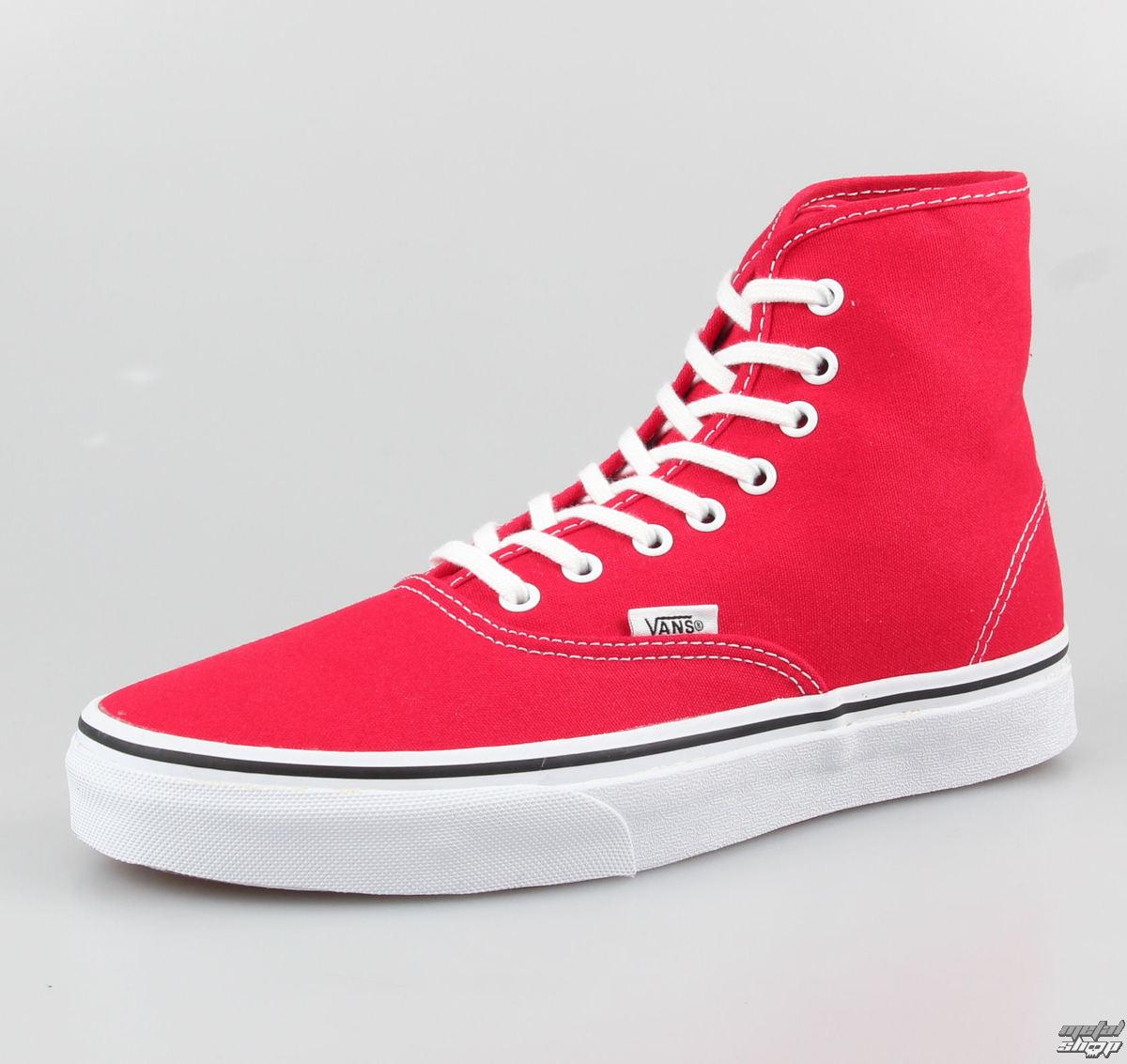 topánky VANS - Authentic Hi - True Red - VRQFOPZ