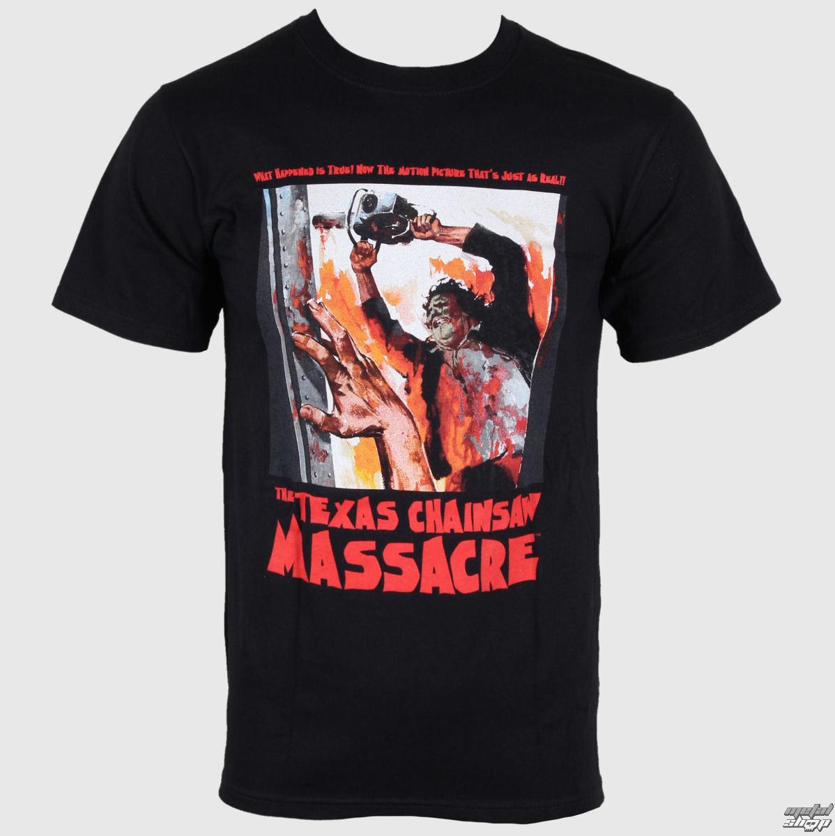 tričko pánské Texas Chainsaw Massacre - What Happened is True! - Black - IMPACT - TCM02
