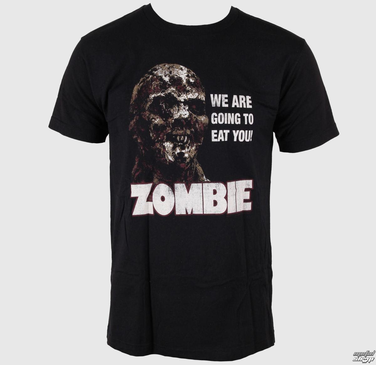 tričko pánské Zombie - Distressed Zombie - Black - IMPACT - ZOM05