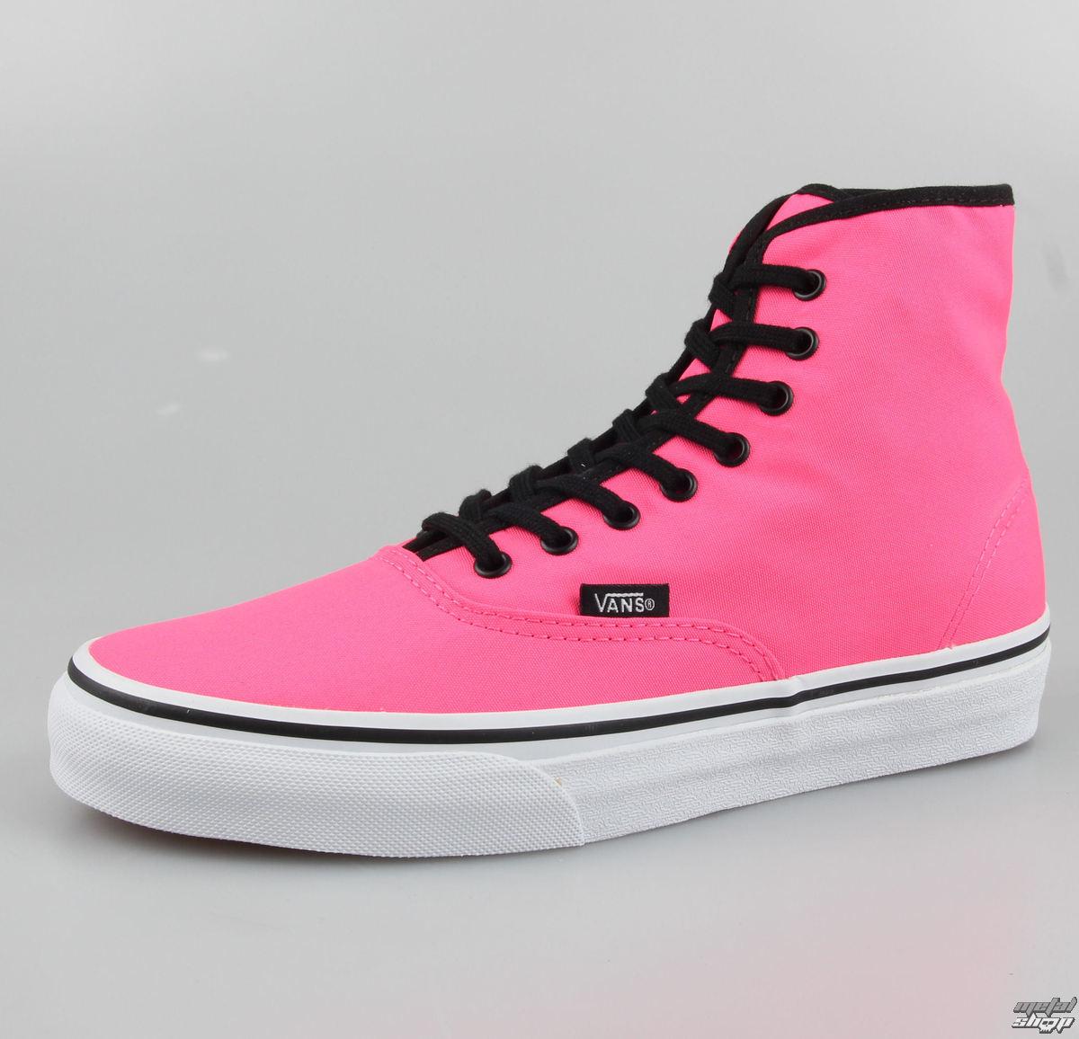topánky VANS - Authentic HI - Neon Pink - VRQFOFR