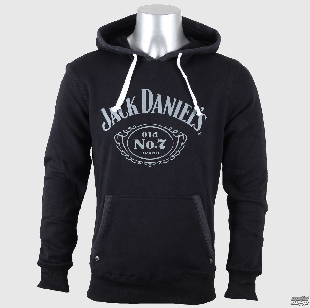 mikina pánska Jack Daniels - Old No. 7 - Black - BIOWORLD - HD030080JDS