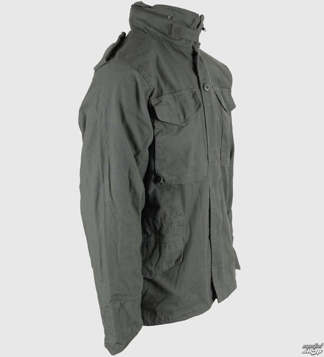 bunda pánska jarno-jesenná M65 Fieldjacket NYCO washed - OLIV ... ba101248792