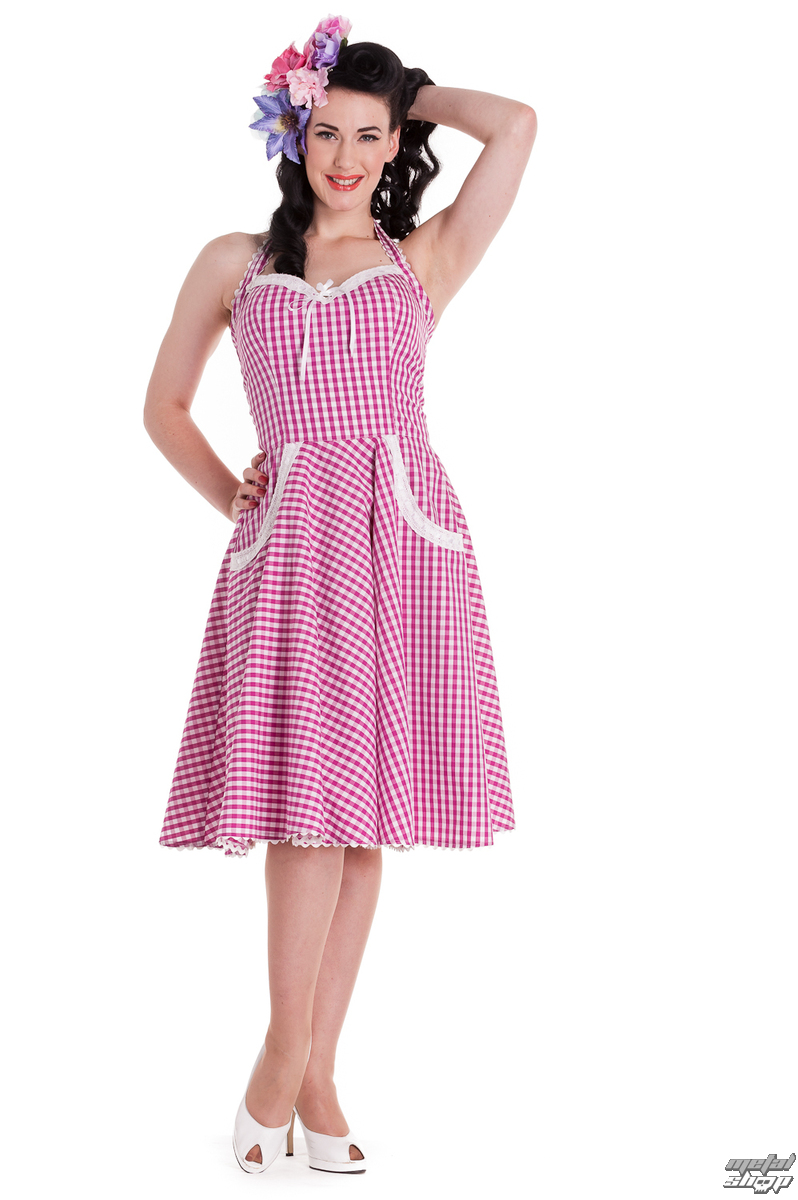 šaty dámske HELL BUNNY - Charlotte - Pink - 4226