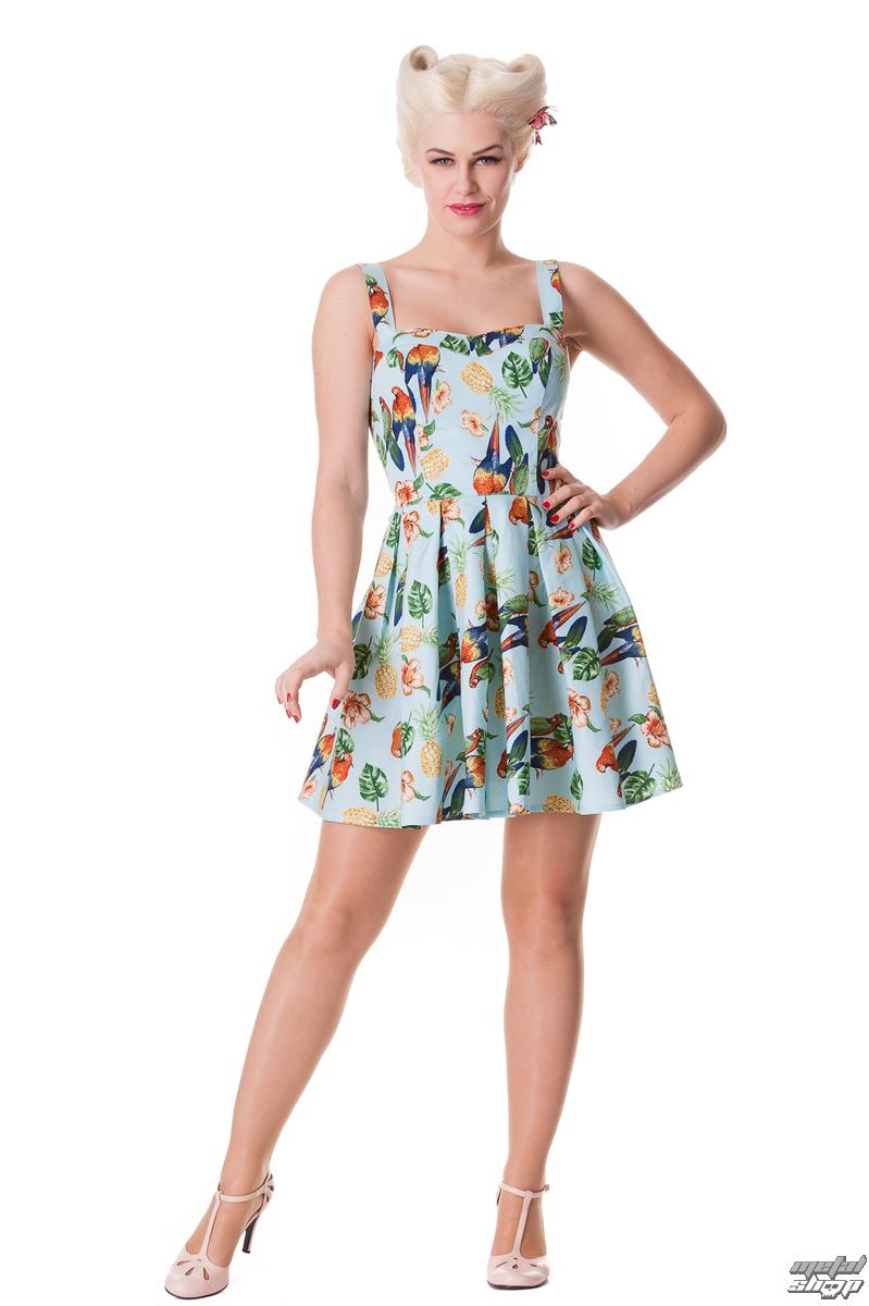 šaty dámske HELL BUNNY - Becky - Blue - 4236