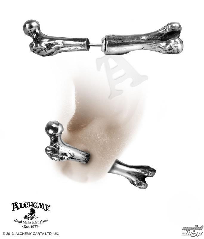 náušnice Femur Bone - ALCHEMY GOTHIC - E322