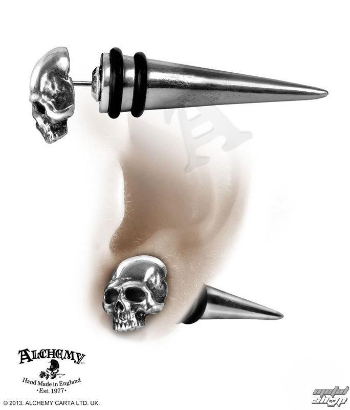 náušnice Tomb Skull Spike - ALCHEMY GOTHIC - E323