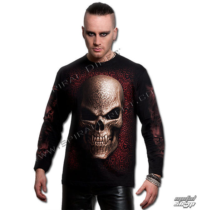 tričko pánske s dlhým rukávom SPIRAL - Goth Skull - TR342700