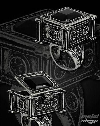 prsteň RESTYLE - Sarcophagus - Black - 0112