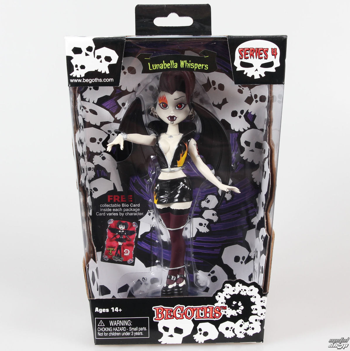 figúrka Goth Silver Spring Fashion Doll Lunabella - Purple - Blad00422